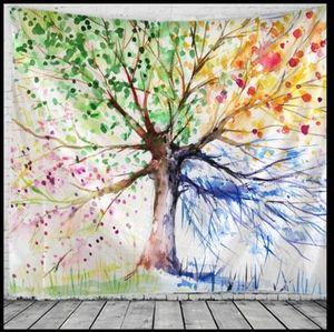 Four Seasons Tree in Bloom Tapestry New